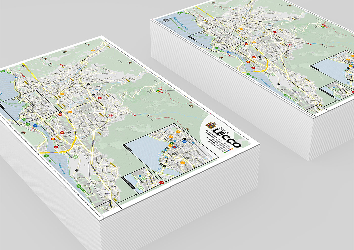Cartina turistica del Comune di Lecco